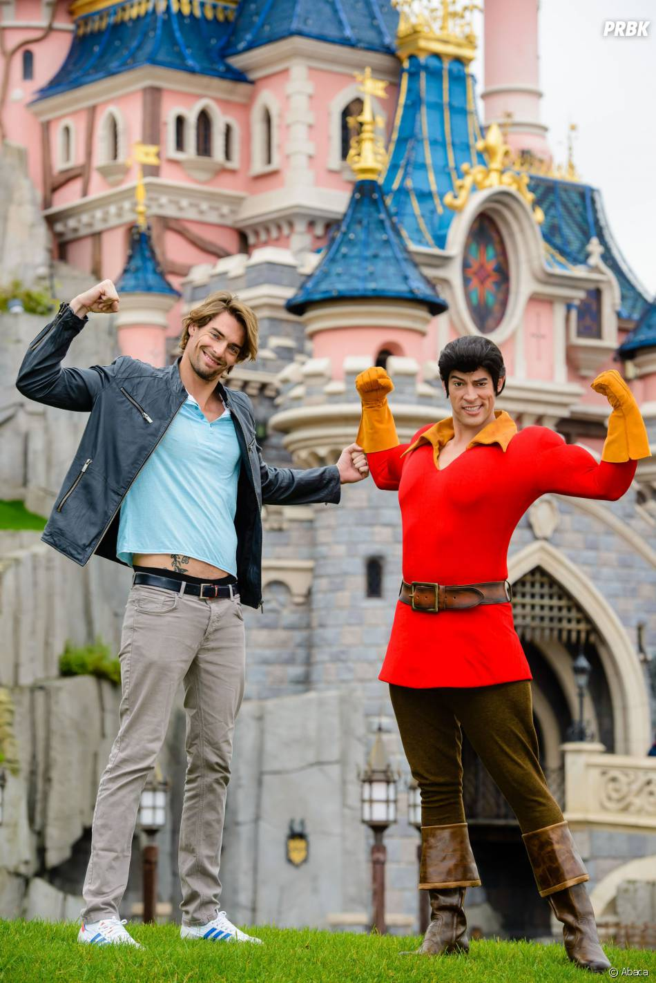 Camille Lacourt à Disneyland Paris, le 12 avril 2015