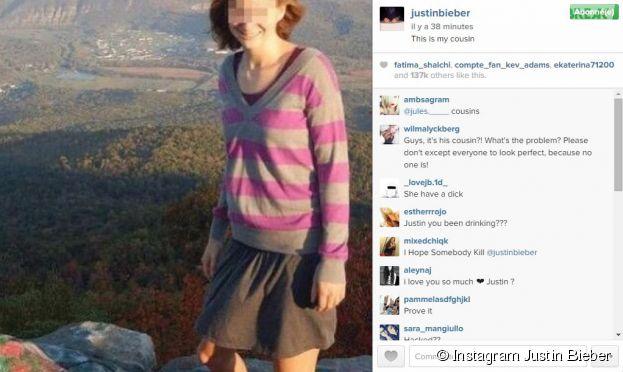 Justin Bieber : photo polémique d'une femme avec un pénis sur Instagram
