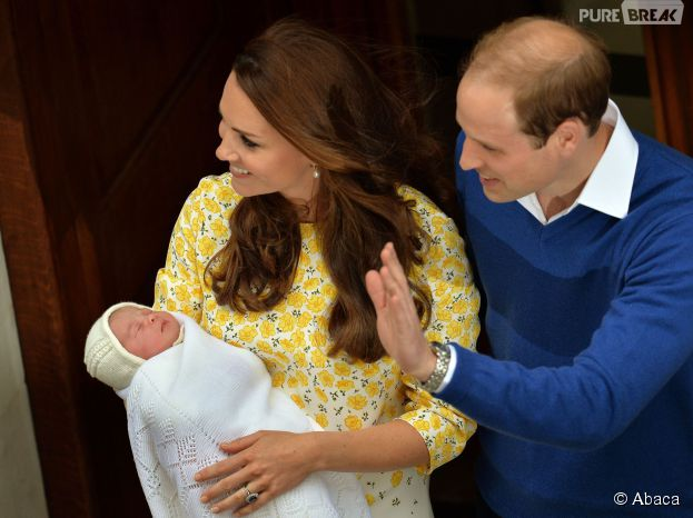 Kate Middleton, le Prince William et leur fille le 2 mai 2015 à Londres