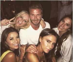 David Beckham en mode Spice Girls pour ses 40 ans, le 2 mai 2015 au Maroc