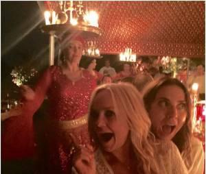 Emma Bunton et Mel C : les ex Spice Girs pendant l'anniversaire de David Beckham, le 2 mai 2015 au Maroc