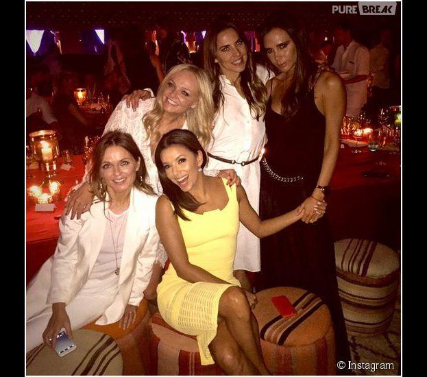 Victoria Beckham, Geri Halliwell, Mel C et Emma Bunton : retrouvailles des Spice Girls avec Eva Longoria, le 2 mai 2015 au Maroc