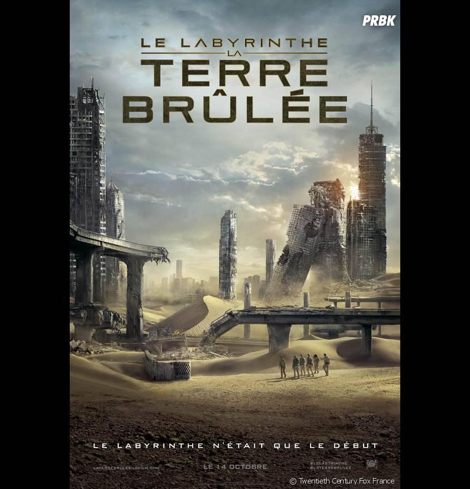 Le Labyrinthe 2, la Terre brûlée : l'affiche française du film
