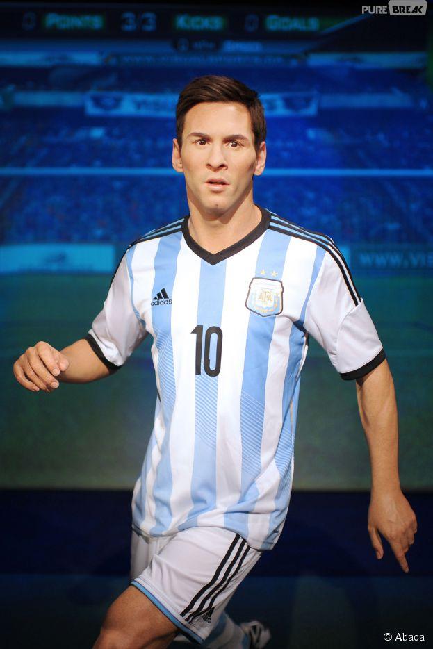 La statue de cire (ratée) de Lionel Messi au musée Madame Tussaud de New York, le 20 mai 2015