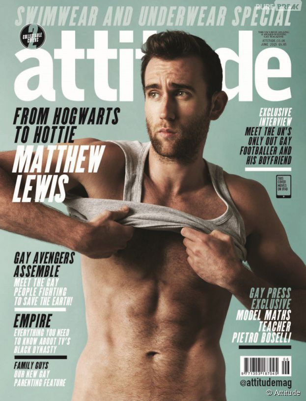 Matthew Lewis : Neville de Harry Potter sexy en couverture de Attitude