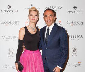 Nikos Aliagas et sa femme Tina au Global Gift Gala 2015, le 25 mai 2015