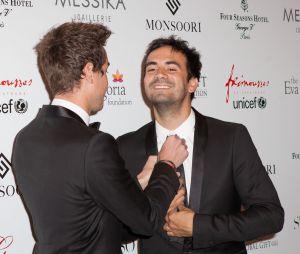 Alex Goude et son compagnon Romain Taillandier au Global Gift Gala 2015, le 25 mai 2015