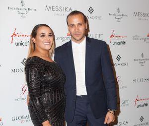 Merwan Rim et sa femme Bérangère Noguès au Global Gift Gala 2015, le 25 mai 2015