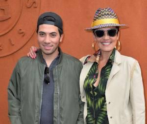 Cristina Cordula et son fils Enzo au Village Roland Garros le 3 juin 2015