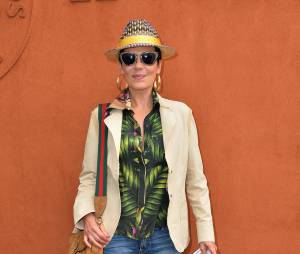 Cristina Cordula au Village Roland Garros le 3 juin 2015