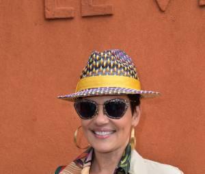 Cristina Cordula stylée au Village Roland Garros le 3 juin 2015
