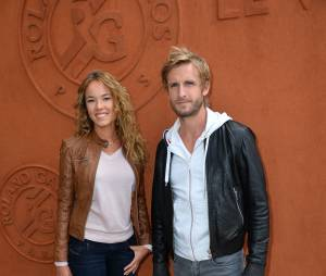 Philippe Lacheau et Elodie Fontan au Village Roland Garros le 3 juin 2015