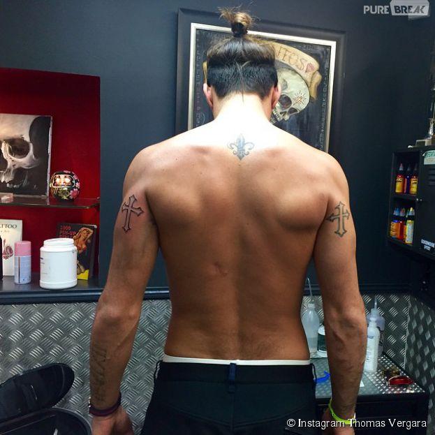 Thomas Vergara montre son nouveau tatouage... et ses cicatrices