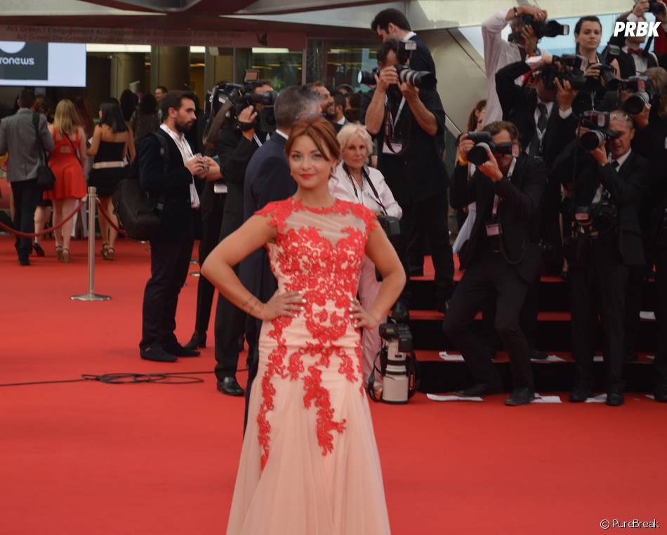 Priscilla Betti à la cérémonie d'ouverture du 55ème Festival de télévision de Monte Carlo, le 13 juin 2015