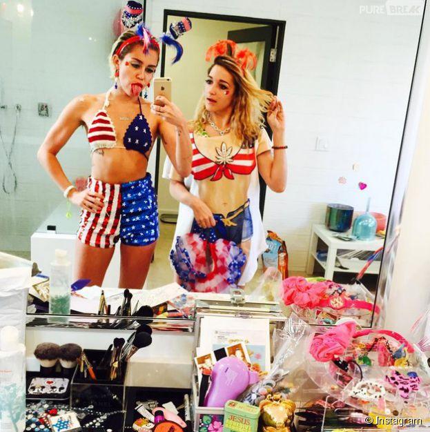 Miley Cyrus fête le 4 juillet