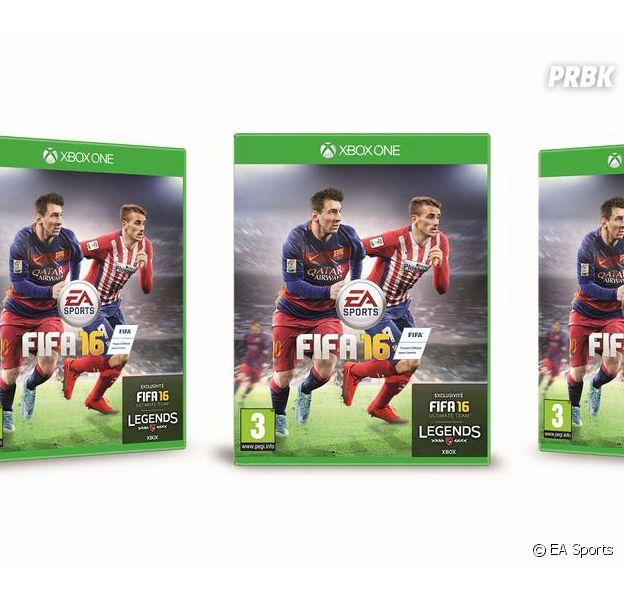 FIFA 16 : Antoine Griezmann et Lionel Messi sur la jaquette française du jeu