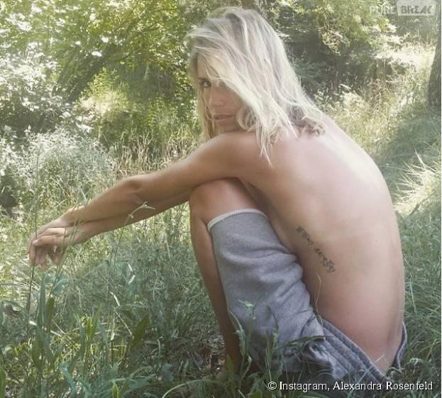 Alexandra Rosenfeld sexy et topless sur Instagram, le 20 juillet 2015