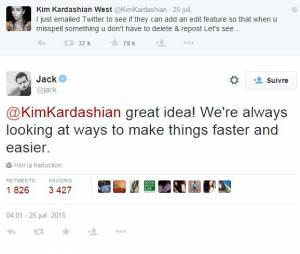 "Twitter : bientôt une fonction ""modifier"" grâce à Kim Kardashian ?"