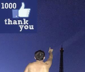 Adrien (L'Amour est dans le pré 2015) cul nu sur Facebook