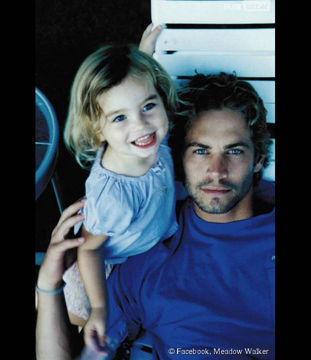 Paul Walker et sa fille Meadow sur une photo partagée par la jeune femme, le 12 septembre 2015