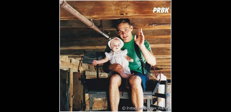 Paul Walker et sa fille Meadow sur une photo postée sur Instagram