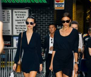 Irina Shayk et Emily Ratajkowski à New York pour la Fashion Week en septembre 2015