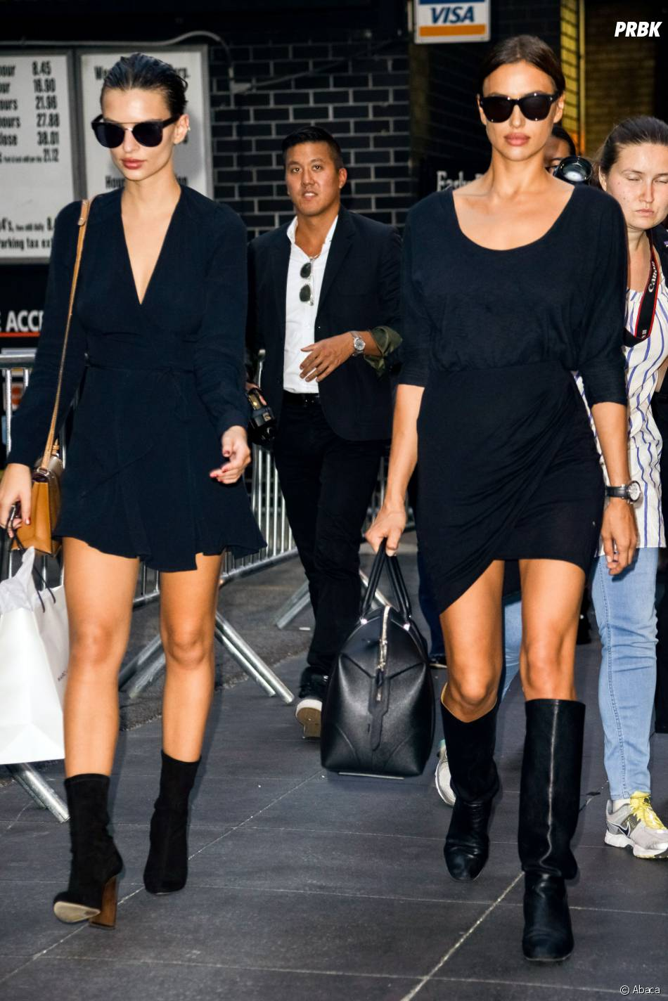 Irina Shayk et Emily Ratajkowski se baladent à New York pour la Fashion Week en septembre 2015