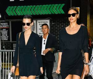 Irina Shayk et Emily Ratajkowski à New York pour la Fashion Week en septembre 2015