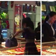 Une riche Chinoise pète un câble sur une vendeuse et lui jette son argent à la figure