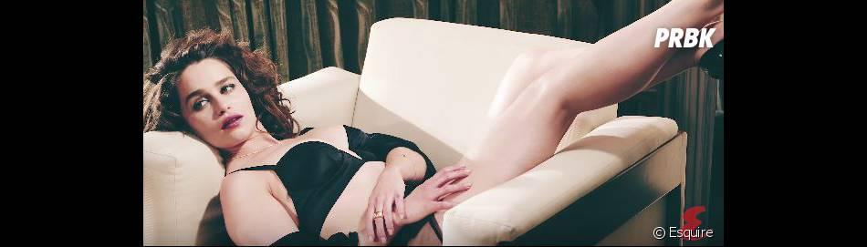 Emilia Clarke sexy en lingerie pour le magazine Esquire