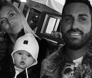 Stéphanie Clerbois avec son fils Lyam et son compagnonsur une photo Instagram