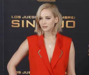 Jennifer Lawrenceau photocall d'Hunger Games 4, le 10 novembre 2015 à Madrid