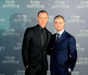 James McAvoy et Daniel Radcliffe à l'avant-première de Docteur Frankenstein à Mexico le 14 novembre 2015