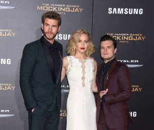 Hunger Games 4 : Liam Hemsworth, Jennifer Lawrence et Josh Hutcherson à l'avant-première à Los Angeles