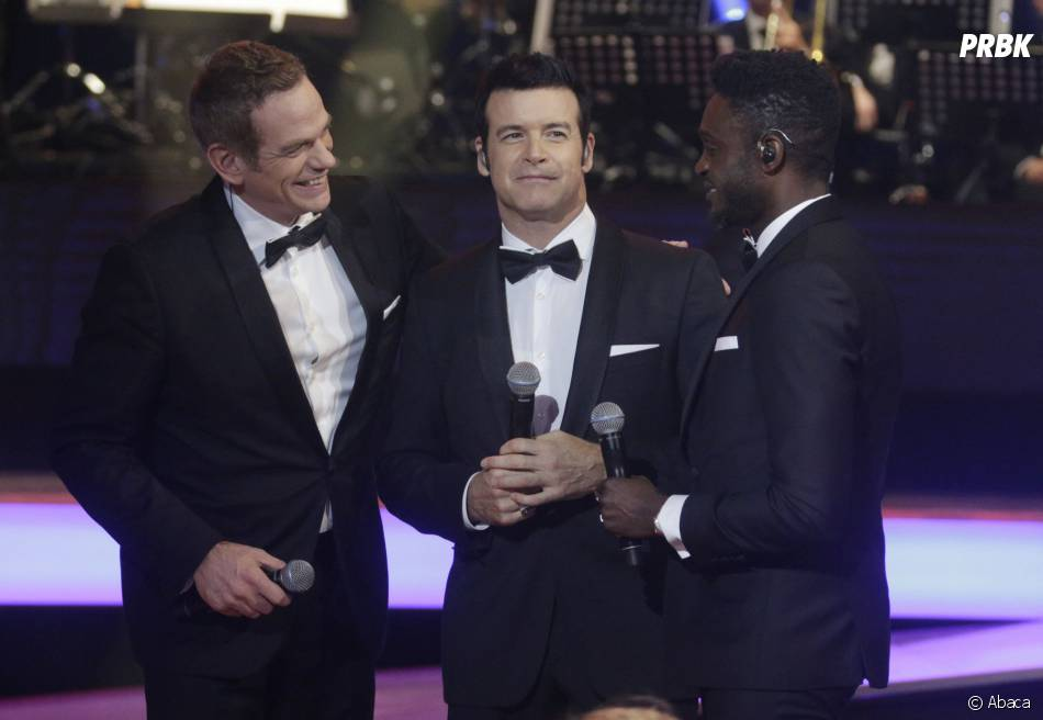 Garou, Roch Voisine et Corneille à la soirée du Téléthon sur France 2 le 5 décembre 2015