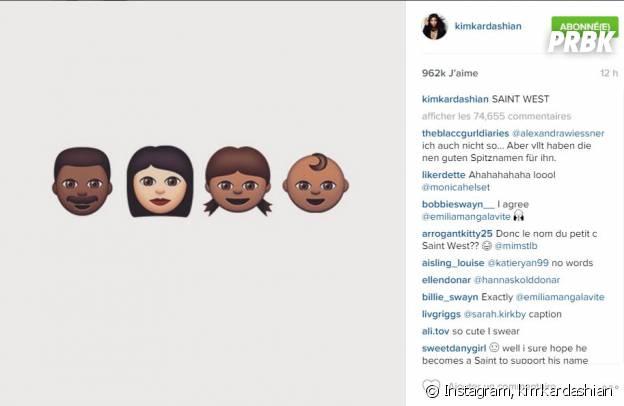 Saint West, le prénom du fils de Kim Kardashian et Kanye West
