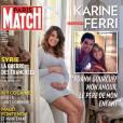Karine Ferri enceinte de Yoann Gourcuff en Une de Paris Match, le 5 novembre 2015