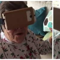 Hilarant : cette mamie essaie la réalité virtuelle pour la première fois et craque totalement