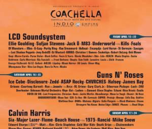 Coachella 2016 : l'affiche de la programmation