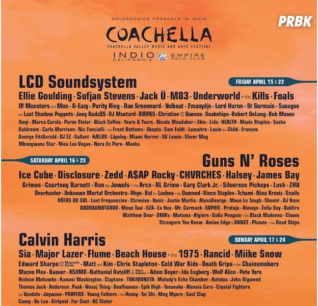 Coachella 2016 : la programmation