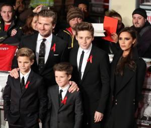 Victoria Beckham, David Beckham et leurs fils en 2013