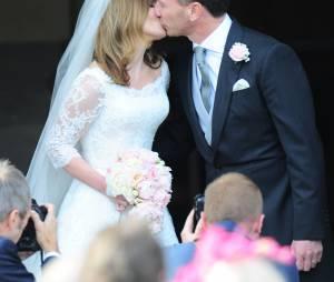 Geri Halliwell lors de son mariage avec Christian Horner en 2015