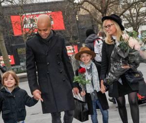 Emma Bunton, son mari et leurs enfants le 21 janvier 2016