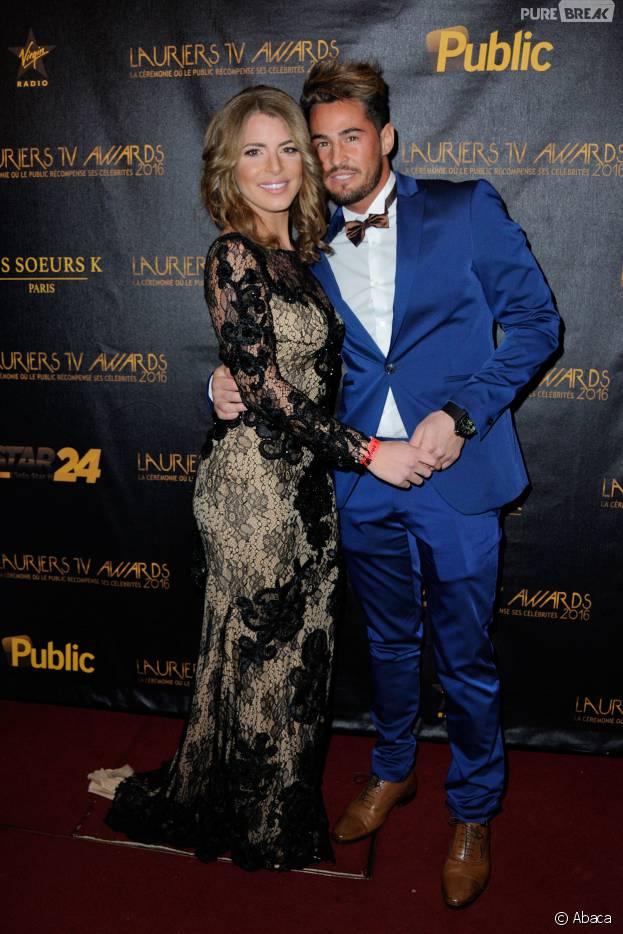 Emilie Fiorelli et Rémi Notta à la cérémonie des Lauriers TV Awardsle 13 janvier 2016