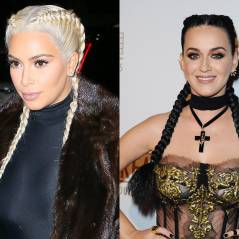 Kim Kardashian blonde VS Katy Perry brune : qui porte le mieux les nattes collées ?