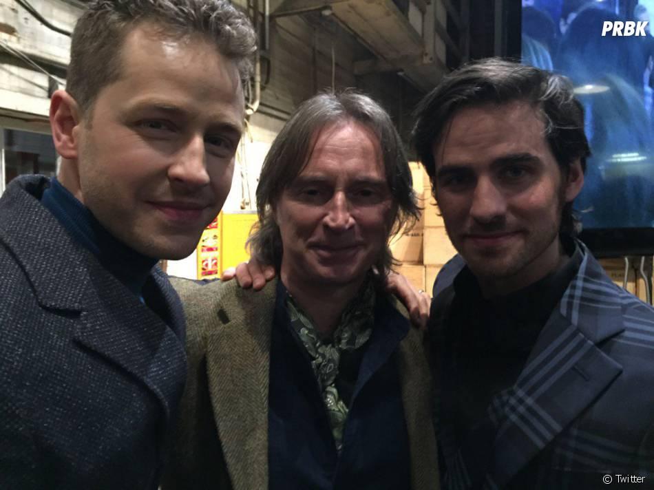 Once Upon a Time saison 5 : Josh Dallas, Robert Carlyle et Colin O'Donoghue à la soirée pour le 100ème épisode le 21 février 2016