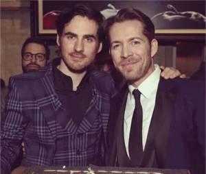 Once Upon a Time saison 5 : Colin O'Donoghue et Sean Maguire à la soirée pour le 100ème épisode le 21 février 2016