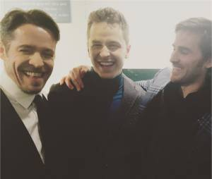 Once Upon a Time saison 5 : Sean Maguire, Josh Dallas et Colin O'Donoghueà la soirée pour le 100ème épisode le 21 février 2016