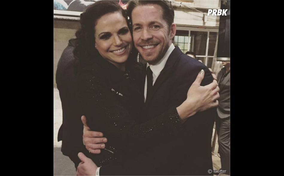 Once Upon a Time saison 5 : Lana Parrilla et Sean Maguire à la soirée pour le 100ème épisode le 21 février 2016