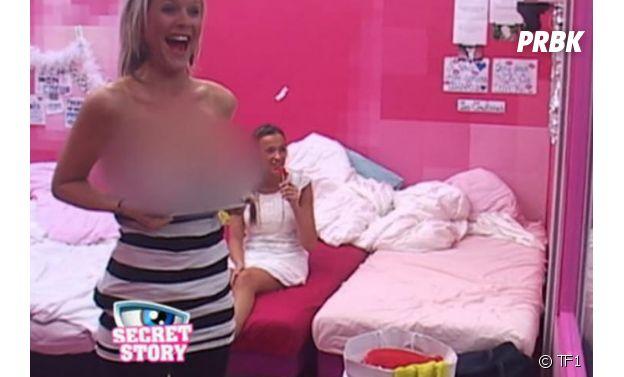 Amélie Neten topless dans Secret Story
